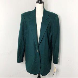 NWT Vintage Sag Harbor Dark Green Blazer 16